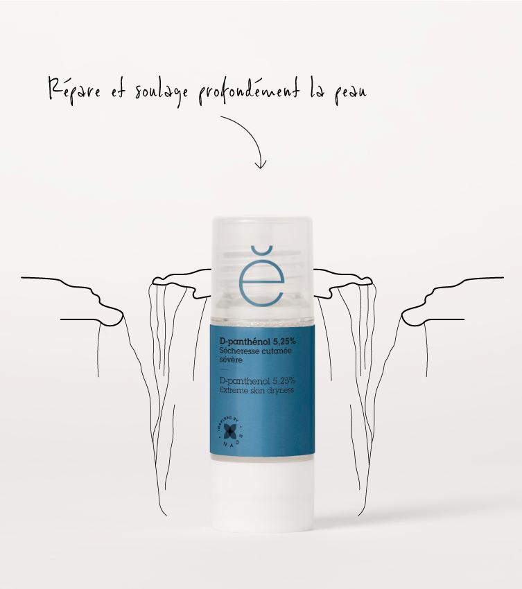 Le D-panthénol, actif pur cosmétique provitamine B5